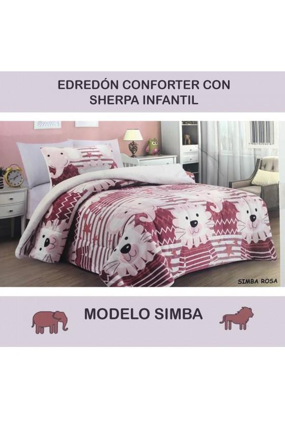 EDREDÓN SHERPA SIMBA ROSA