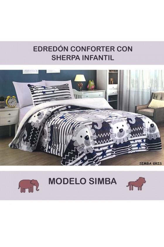 EDREDÓN SHERPA SIMBA GRIS