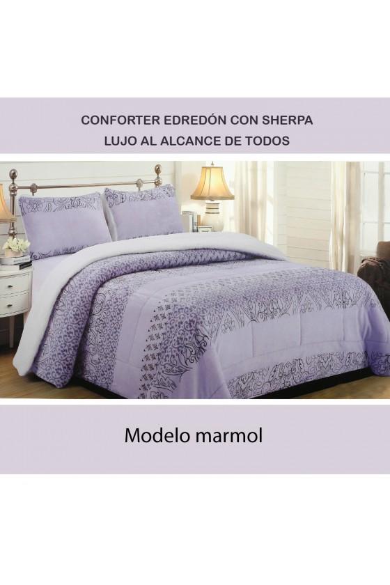 EDREDÓN SHERPA MARMOL